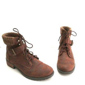 - Skechers Womens Brown Dome Stay Bol…